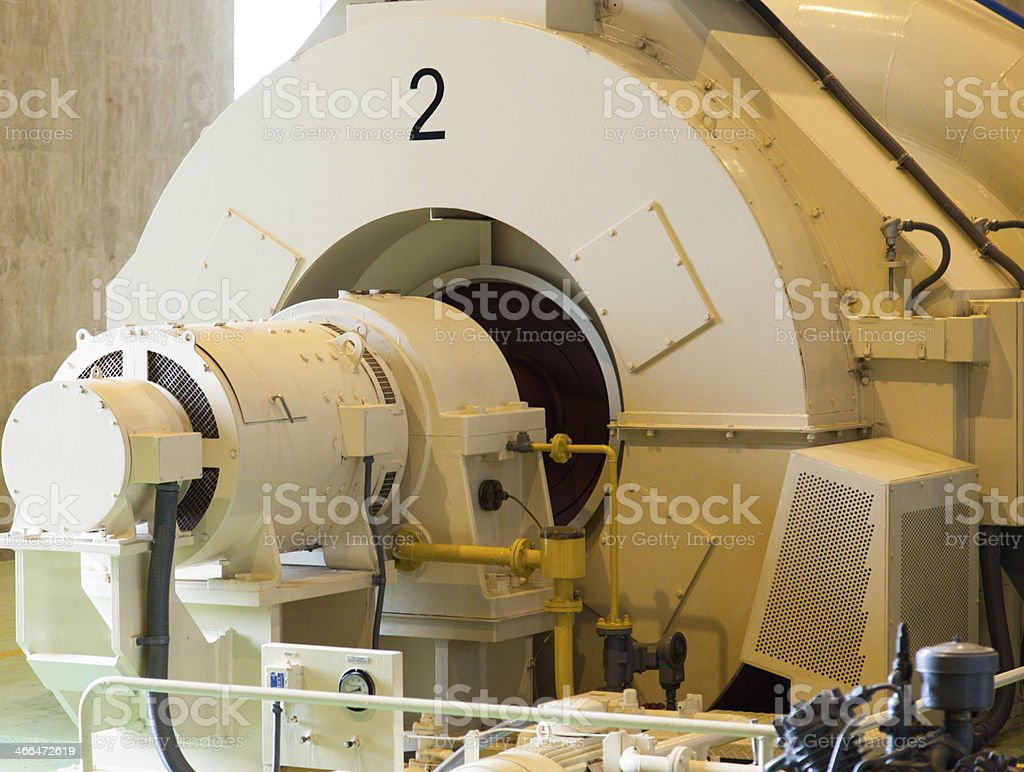 Power generators with water. stock photo