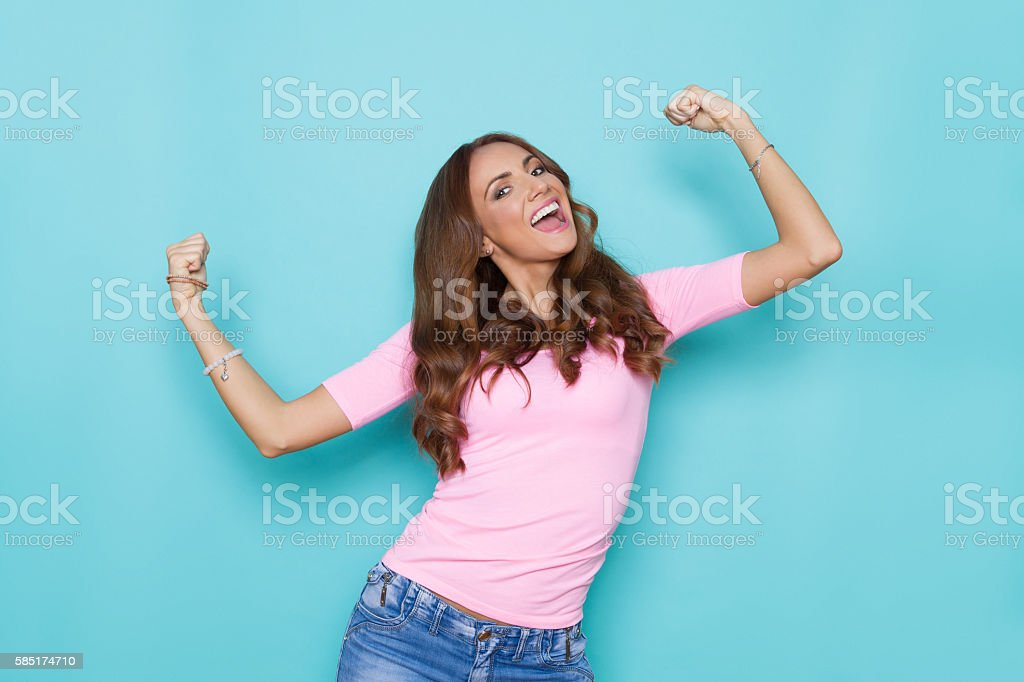Power Girl In Pastel Colors stock photo