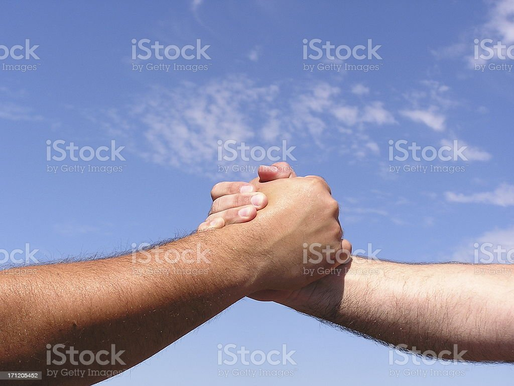 Power Handshake stock photo