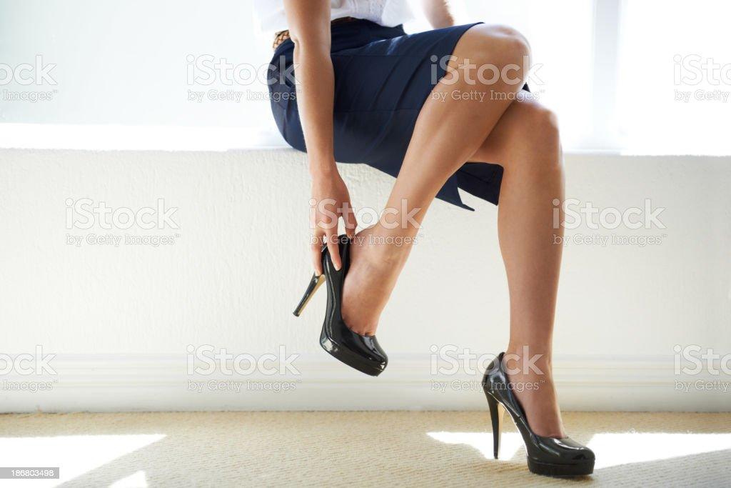 Power heels stock photo