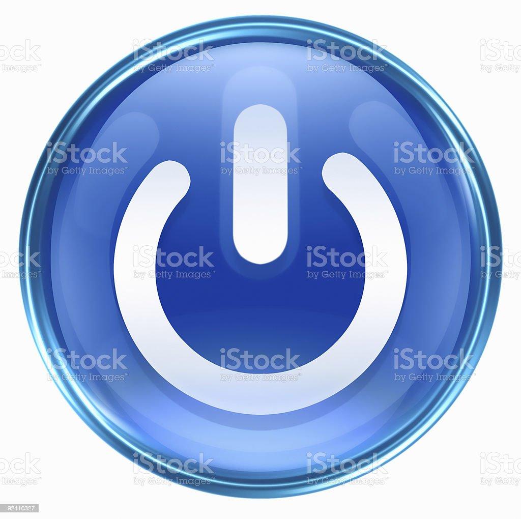 power icon, isolated on white background stock photo
