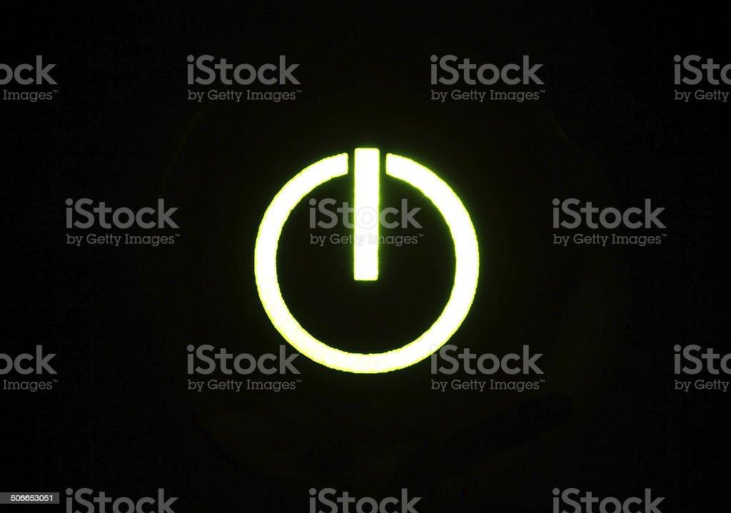 Power Icon stock photo