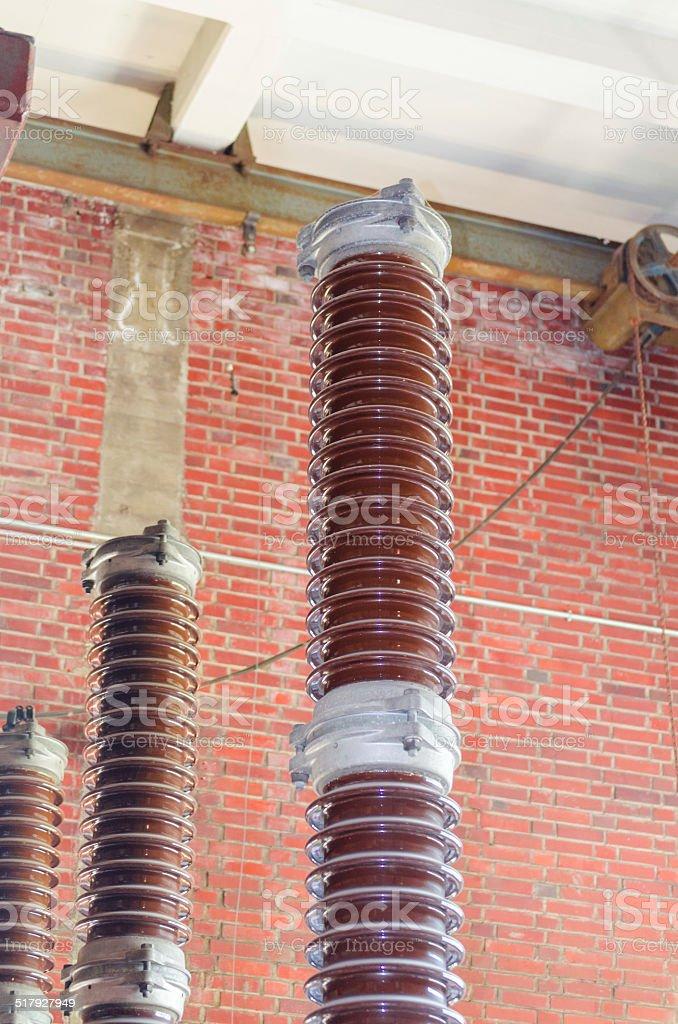 Power Insulators stock photo