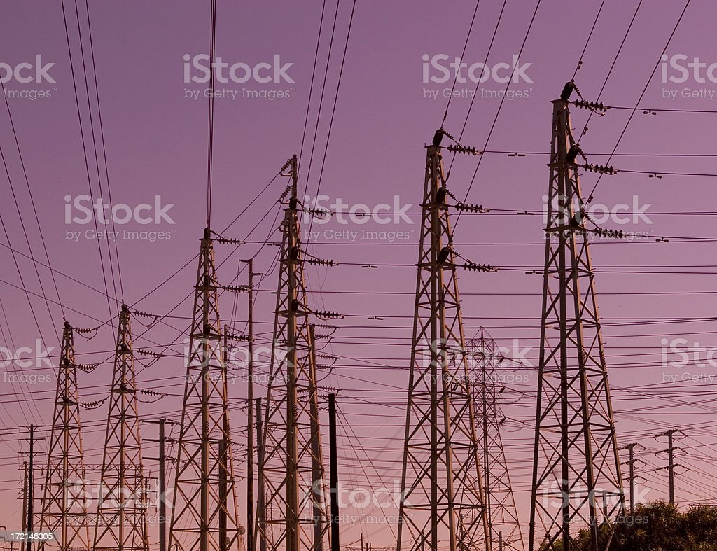 Power Line Crazy stock photo