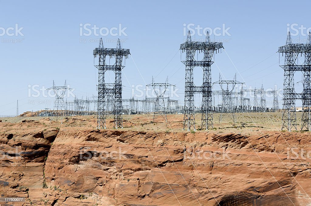 power line in Page stock photo