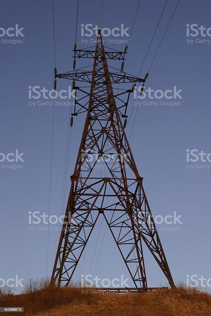 Power Line royalty-free stock photo