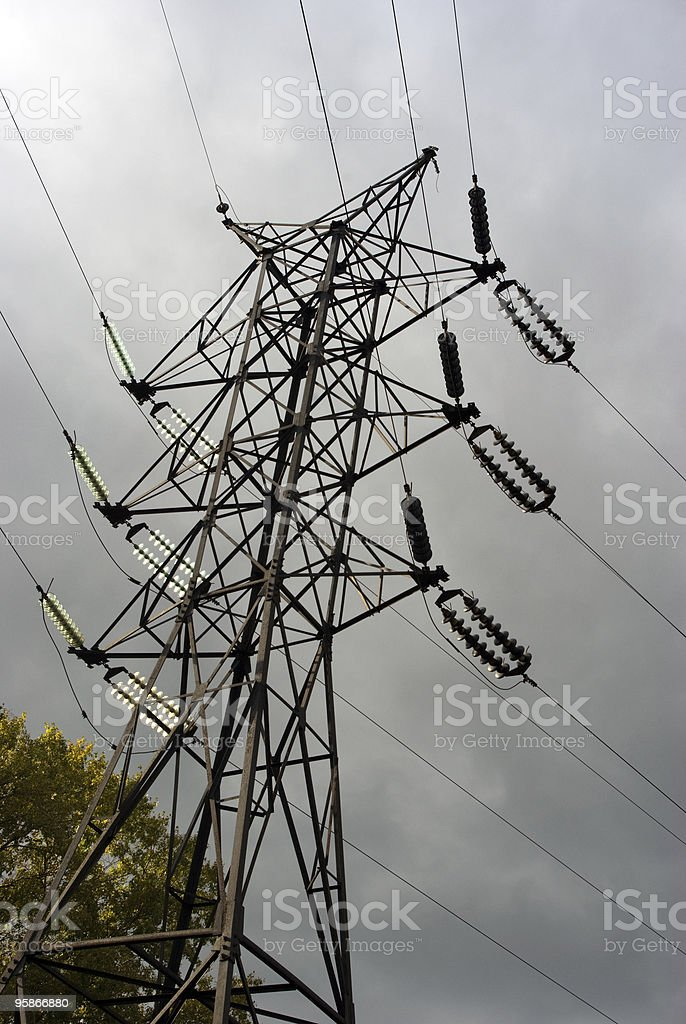 Power line pylon royalty-free stock photo