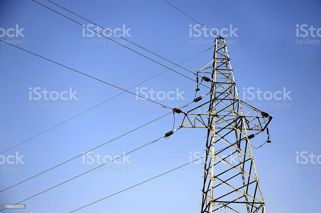 Power Line-Electricity Tower stock photo