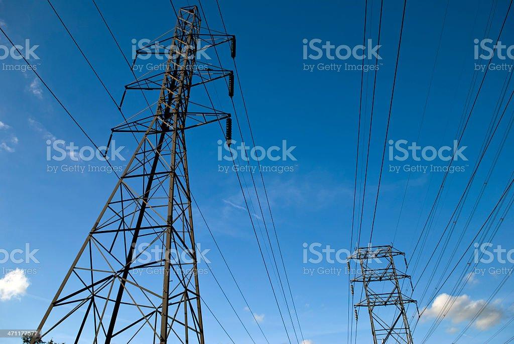 Power Lines Lizenzfreies stock-foto