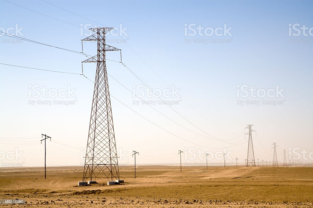 Power Lines royalty-free stock photo