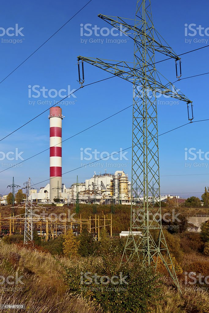 Power Lines pylons royalty-free stock photo