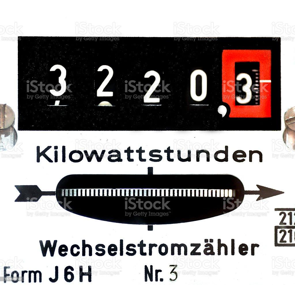 power measurement - Stromzähler stock photo