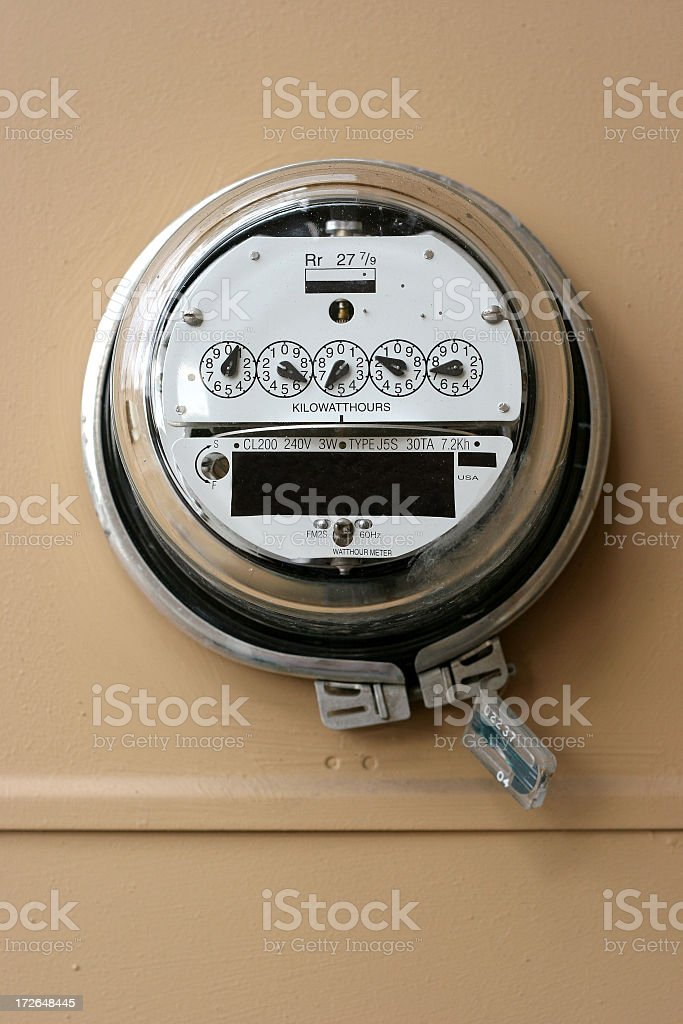 Power Meter stock photo