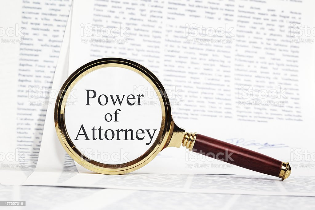 Power of Attorney Concept stock photo