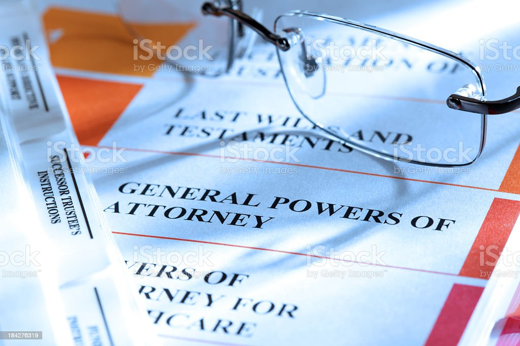 Power of Attorney royalty-free stock photo