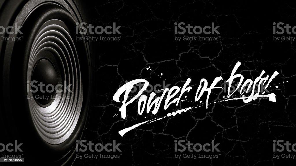 Power of bass1 stock photo