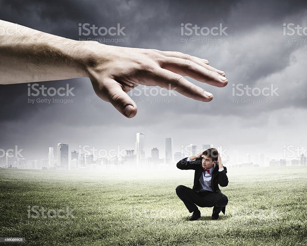 Power of boss stock photo