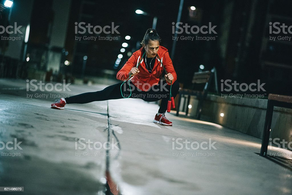 Power of determination stock photo