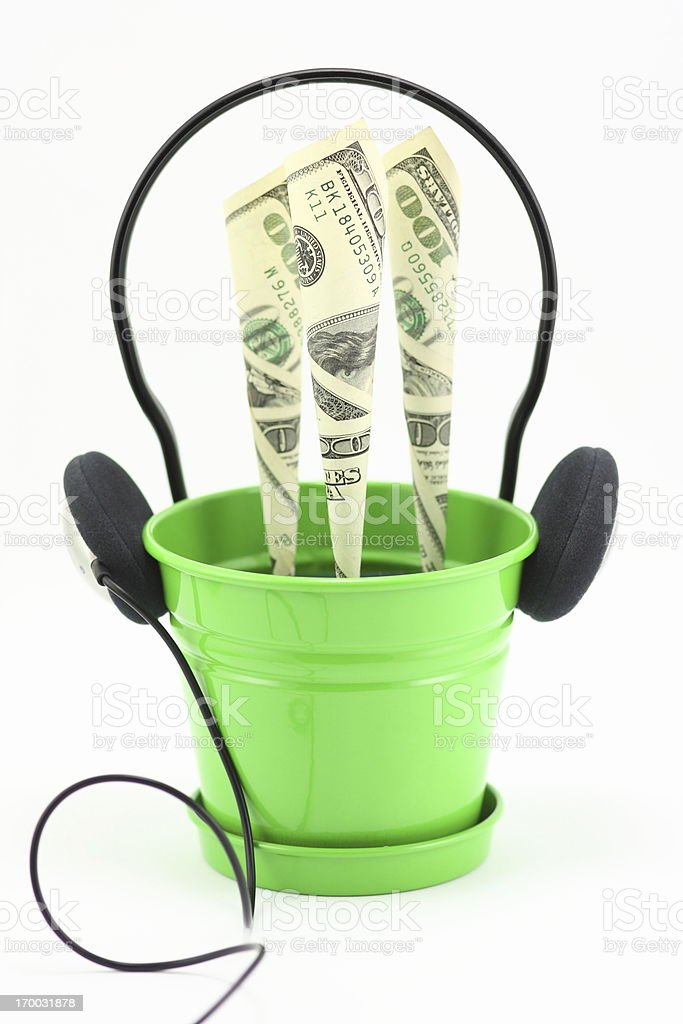 Power of music royalty-free stock photo