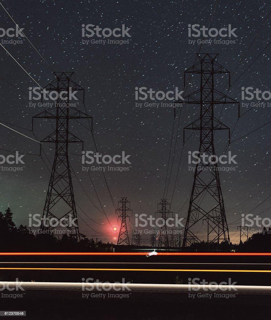 Power of Night stock photo
