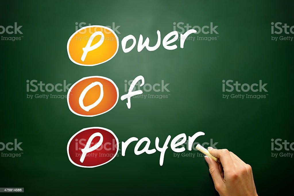 Power Of Prayer stock photo