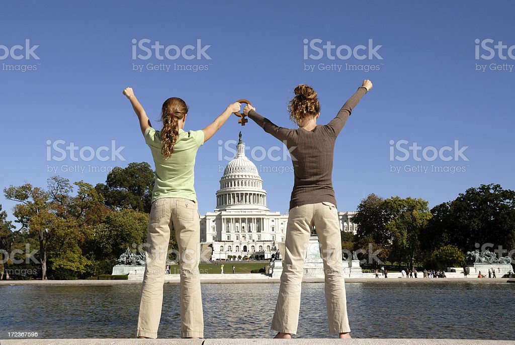 Power of the Women's Vote stock photo