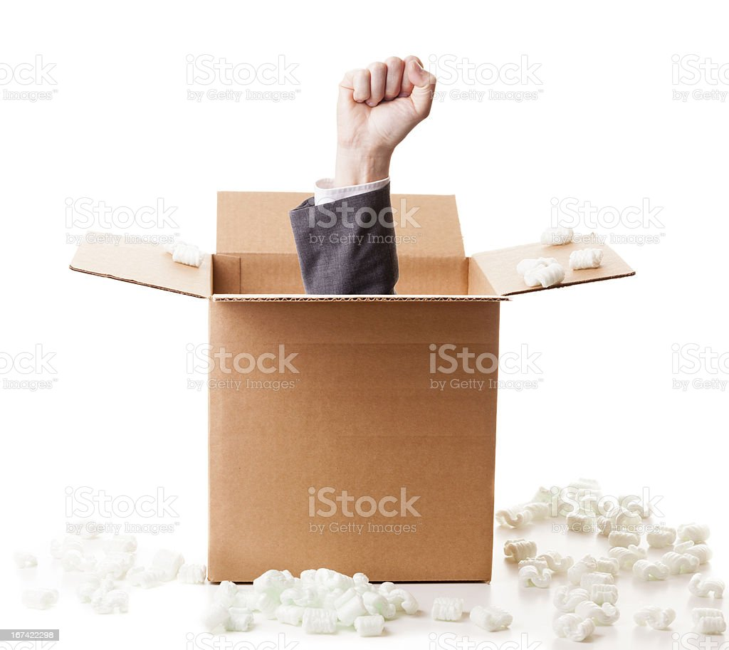 Power out of the box royalty-free stock photo