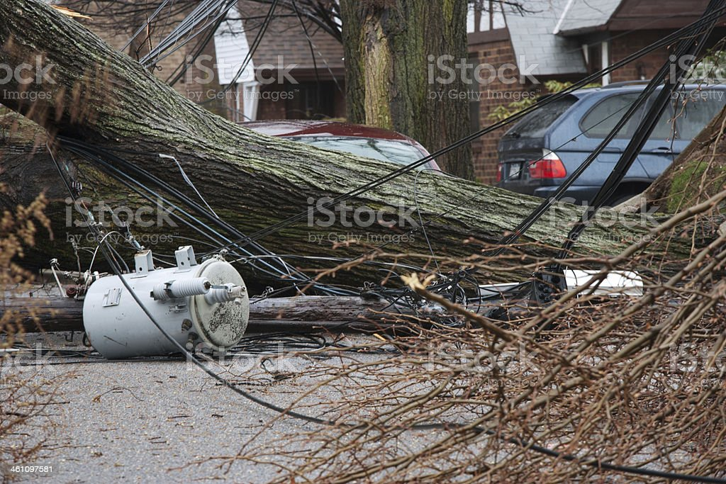 power outage from storm stock photo