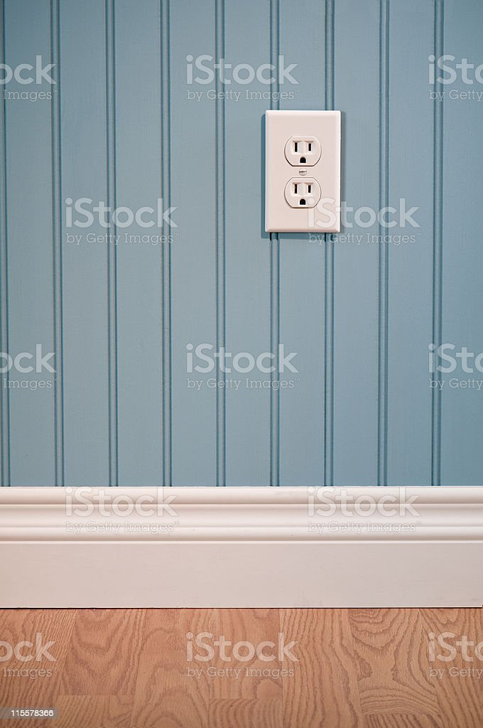 Power Outlet In Empty Room stock photo
