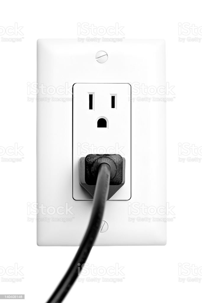 power outlet isolated stock photo