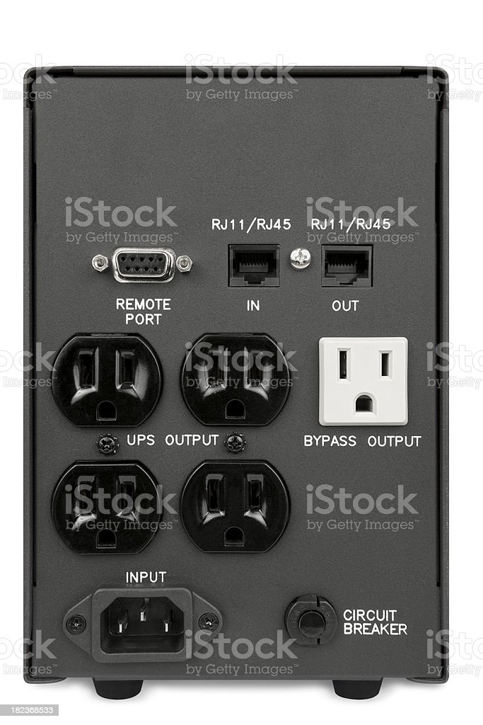 UPS Power Outlet royalty-free stock photo