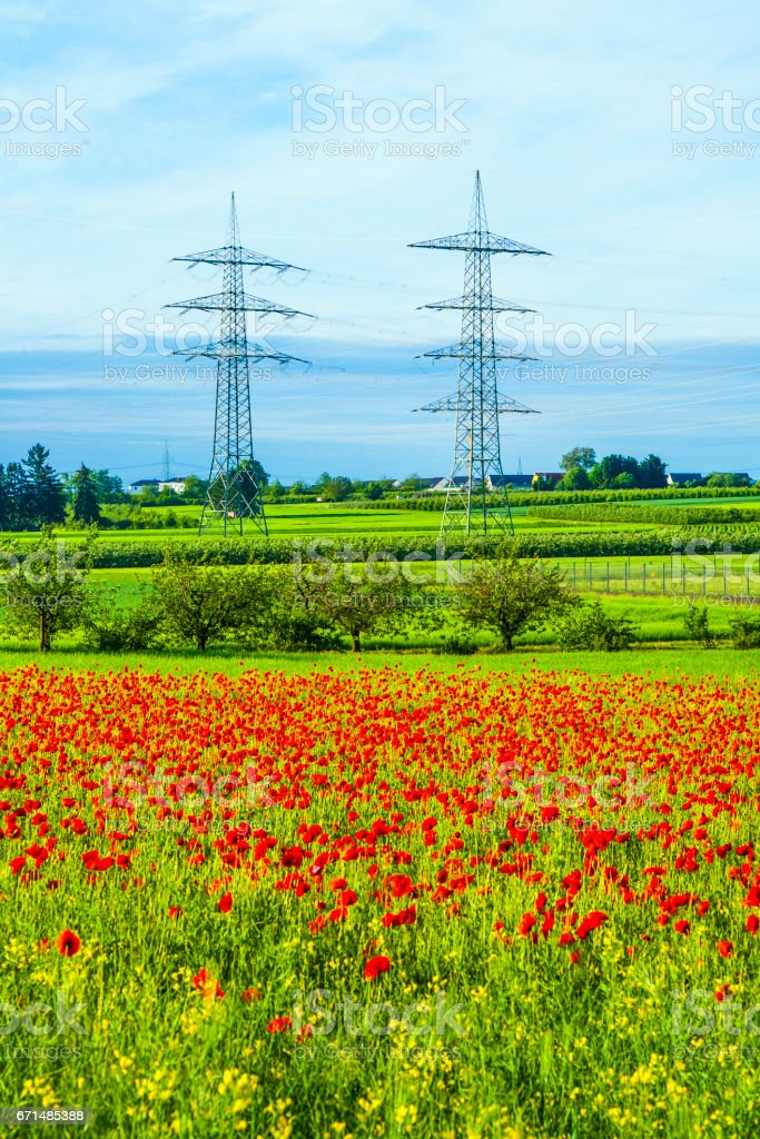 power plant and distribution station stock photo