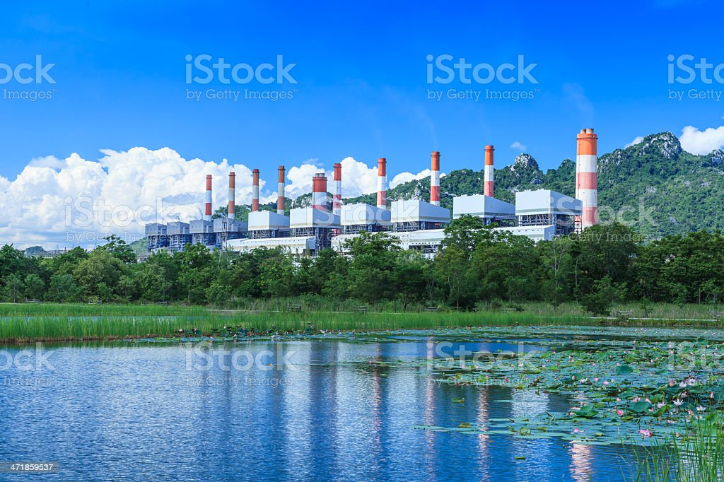 power plant and environment royalty-free stock photo
