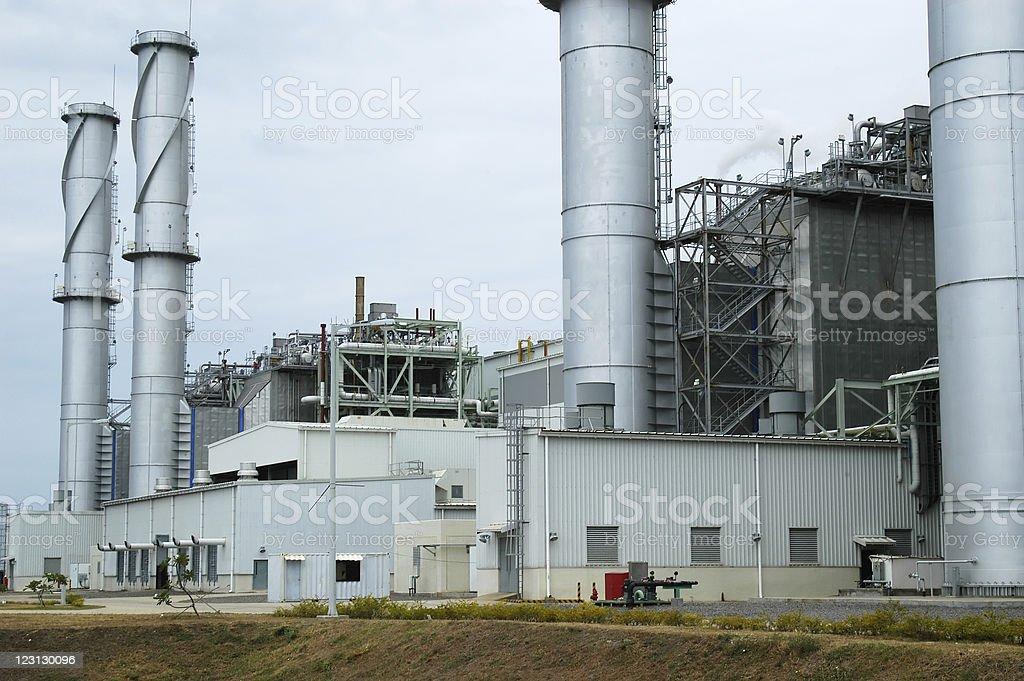 Power Plant Chimney royalty-free stock photo