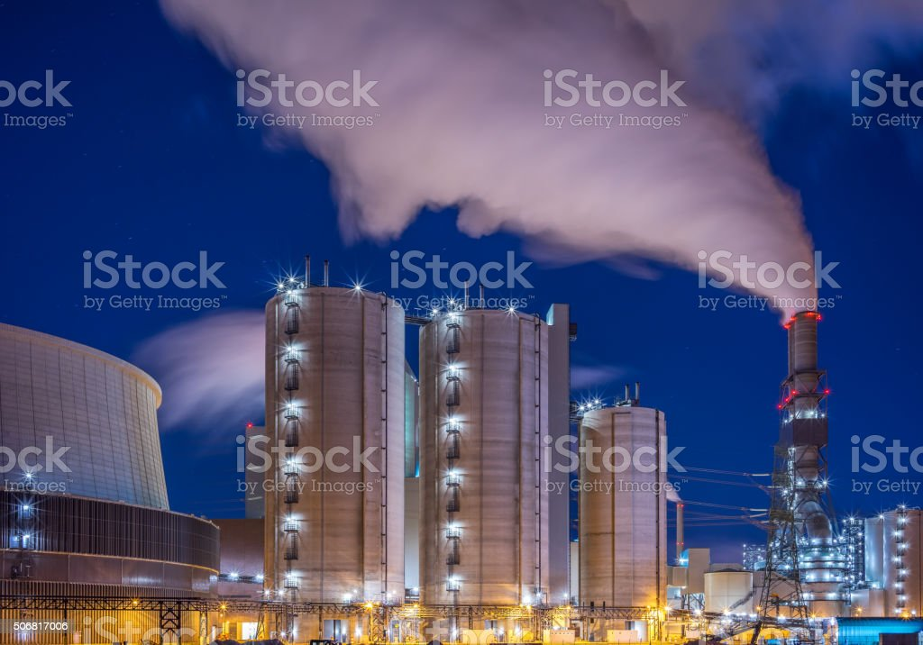 Power plant - energy industrie stock photo