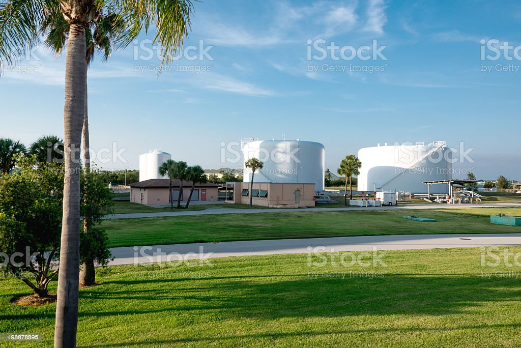 Power Plant Fuel Storage stock photo