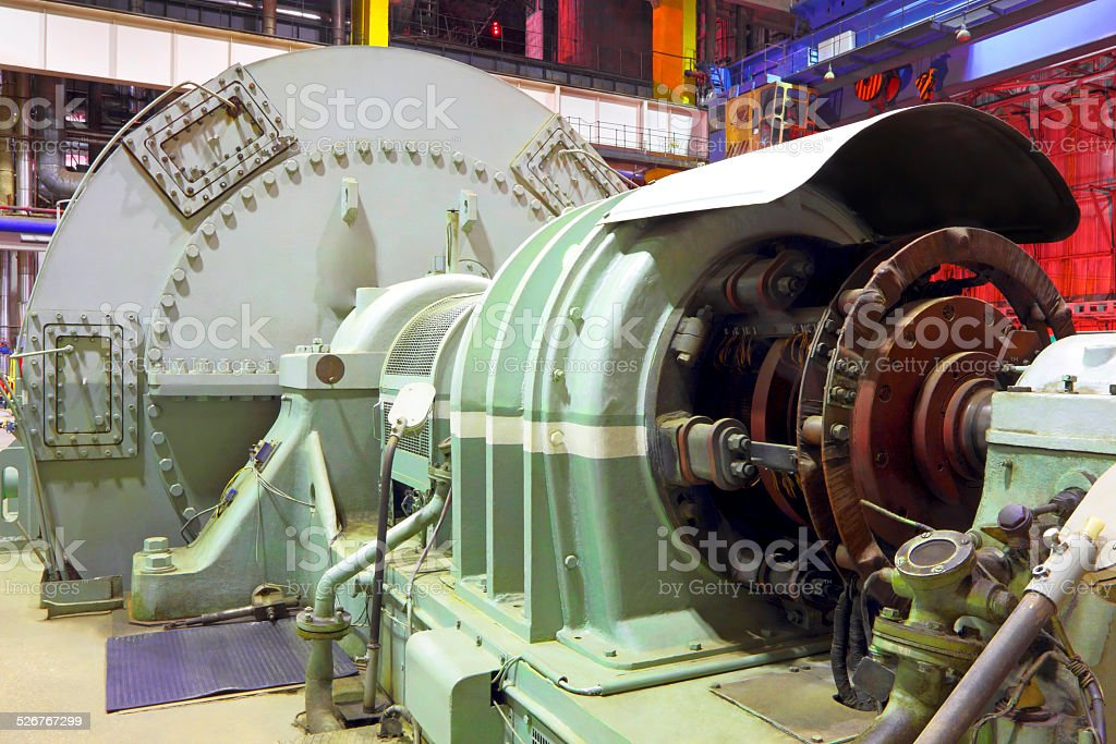 Power plant  generator stock photo