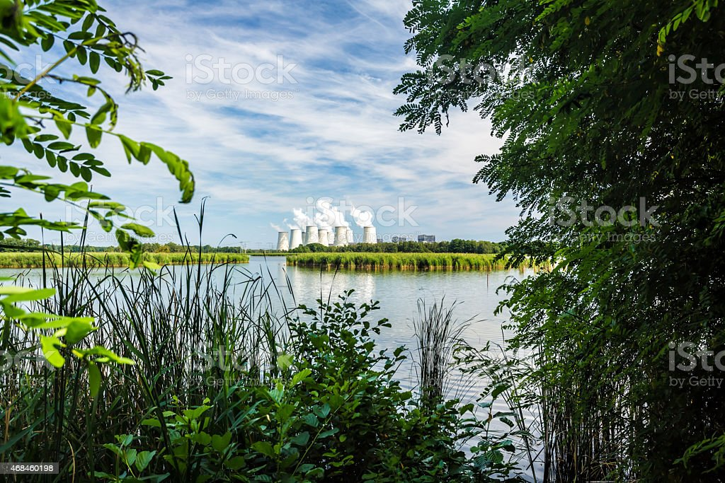 Power plant in Germany stock photo