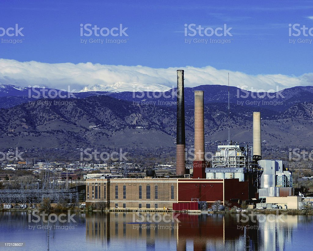 Power Plant Midmorning Warm stock photo