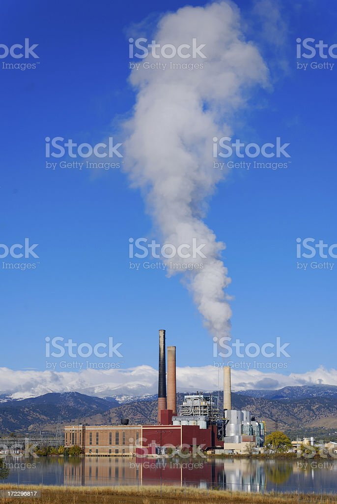 Power Plant on a Fall Morning 2 stock photo