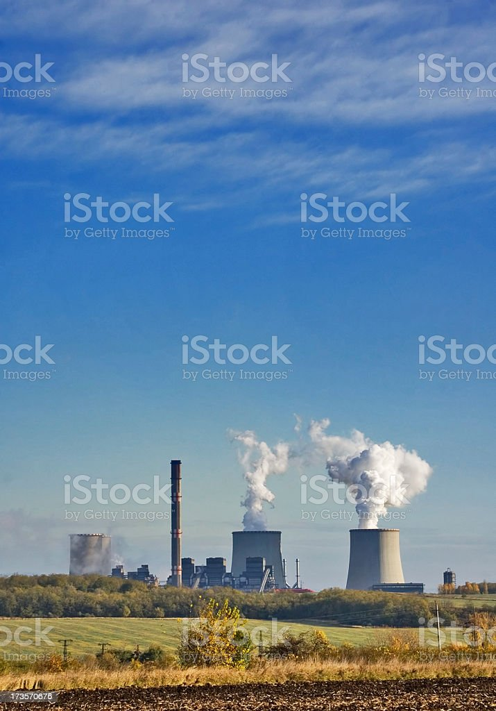 Power plant royalty-free stock photo