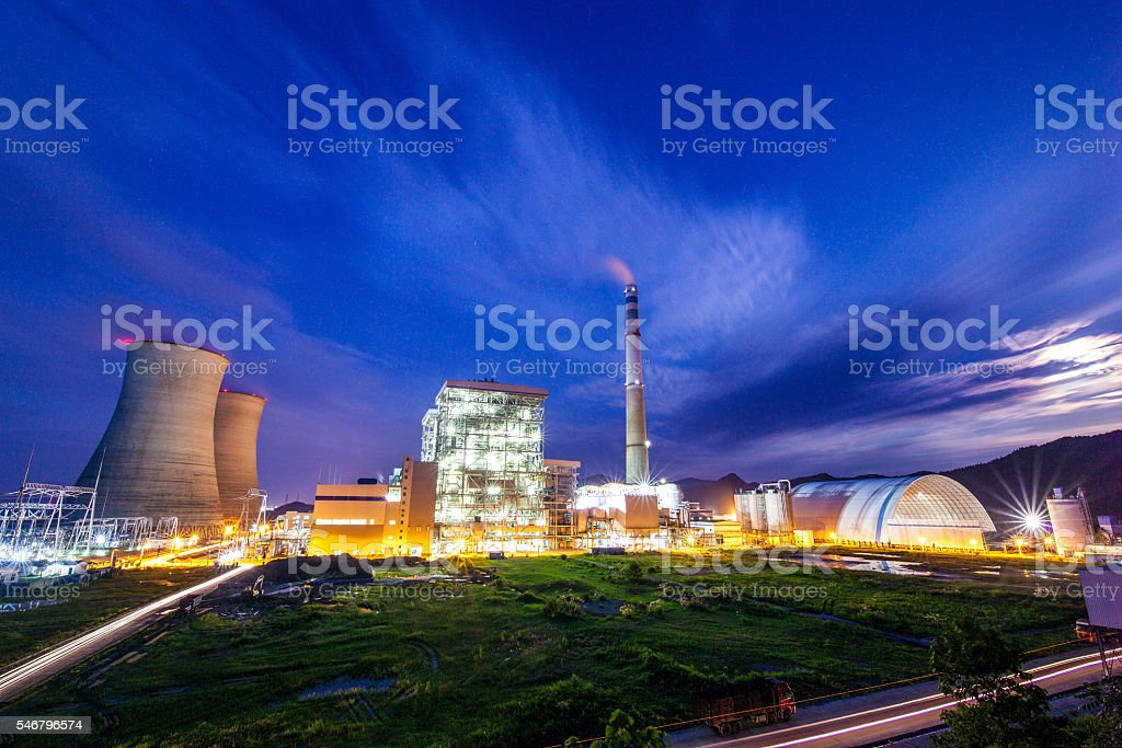 Power Plant stock photo