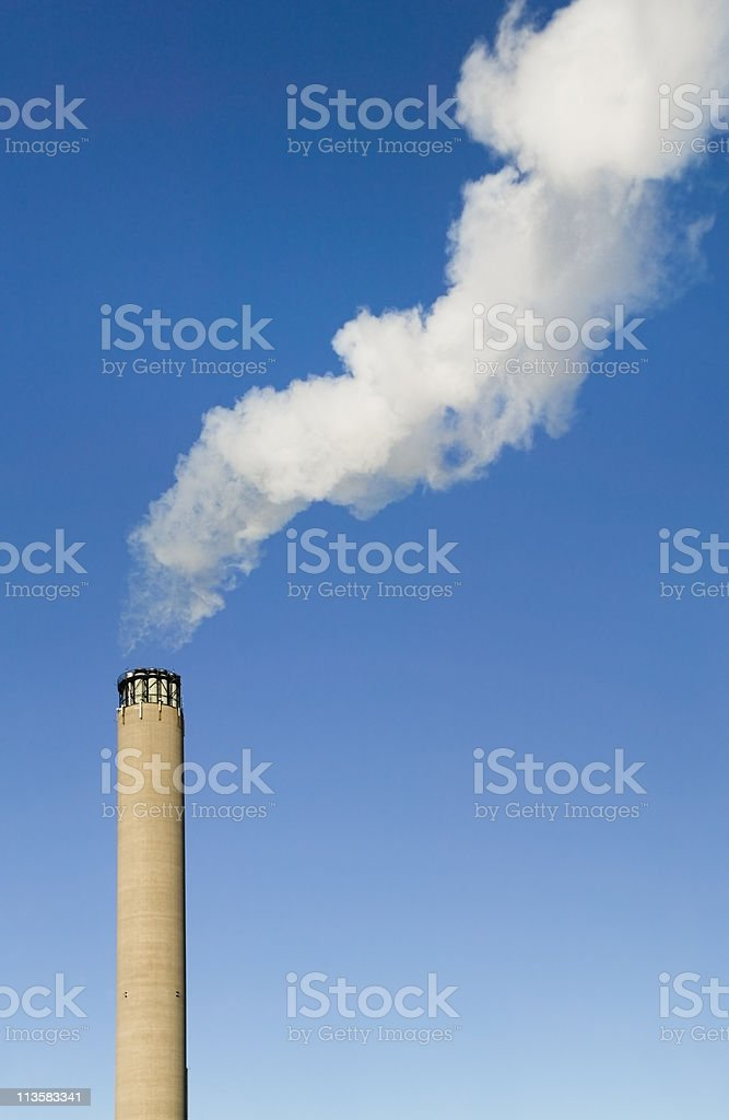 power plant, pollution royalty-free stock photo