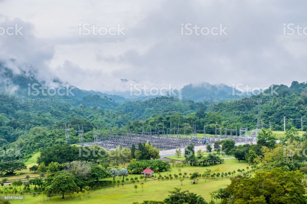 Power plant Power station in Kanchanaburi Thailand stock photo