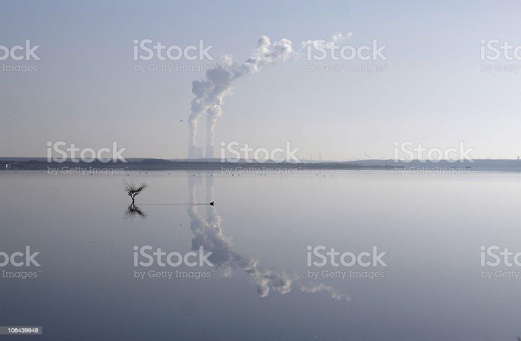 Power Plant Reflection royalty-free stock photo