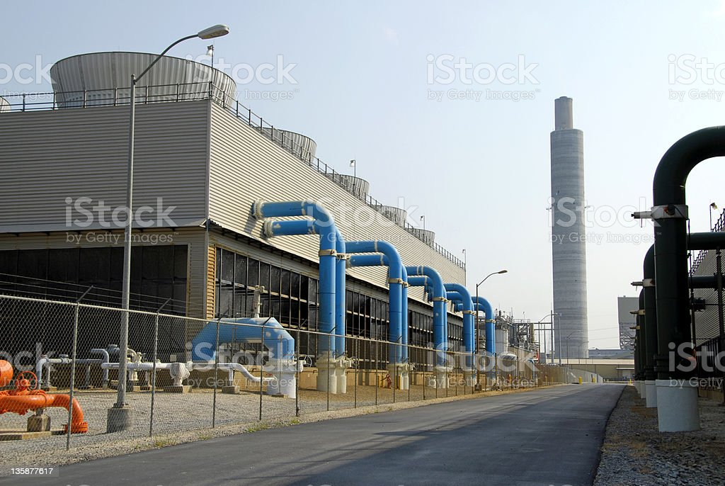 Power Plant Scrubber royalty-free stock photo