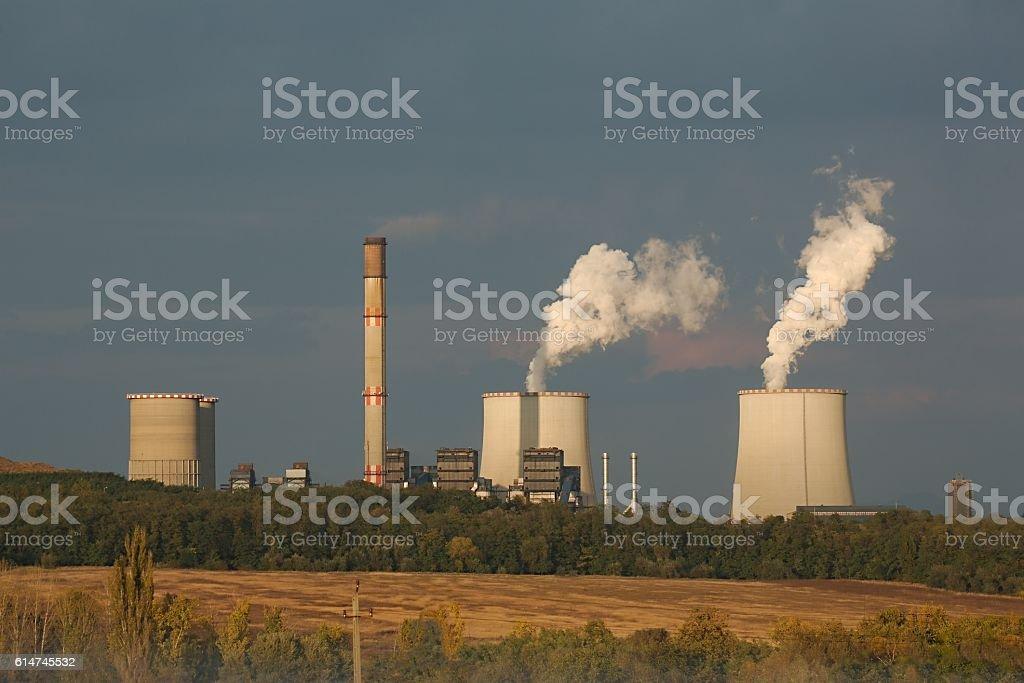 Power Plant Steam stock photo