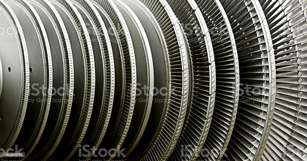 Power Plant Turbine stock photo