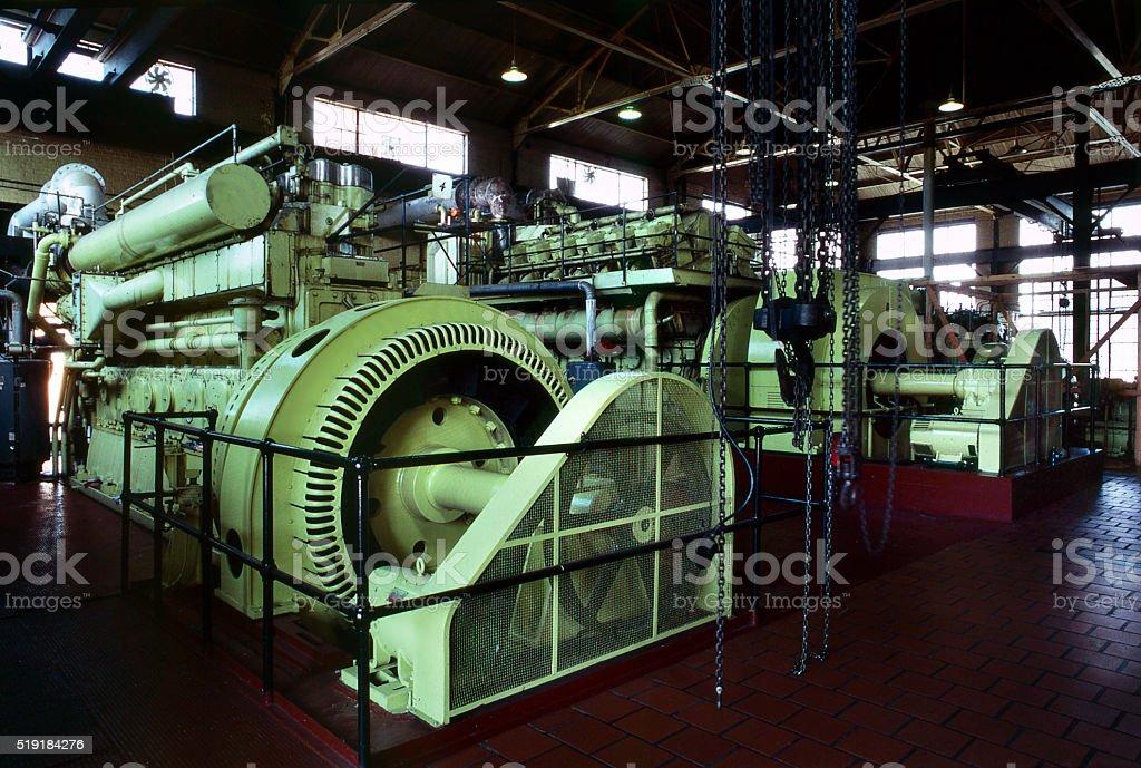power plant turbines stock photo