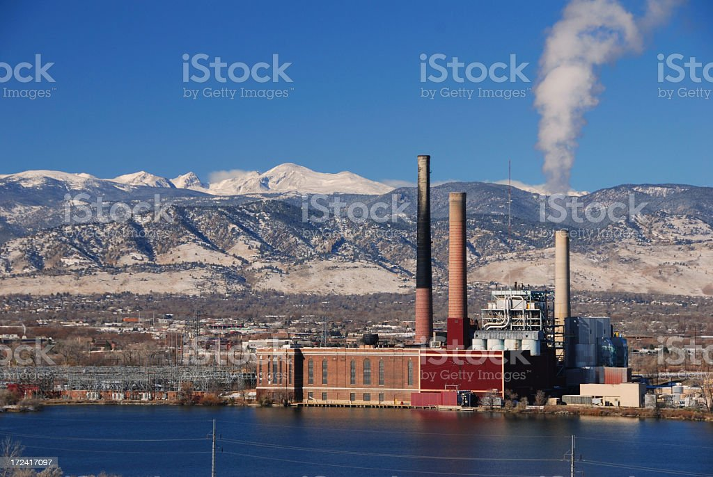 Power Plant with Distribution royalty-free stock photo